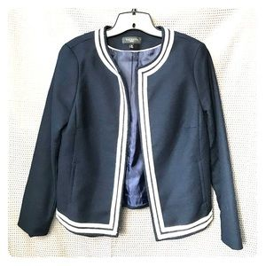 Talbots Navy Open Front Jacket 10P